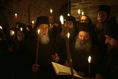 Orthodox Monks Chanting